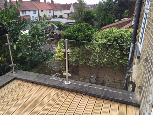 frameless glass balustrades hertford