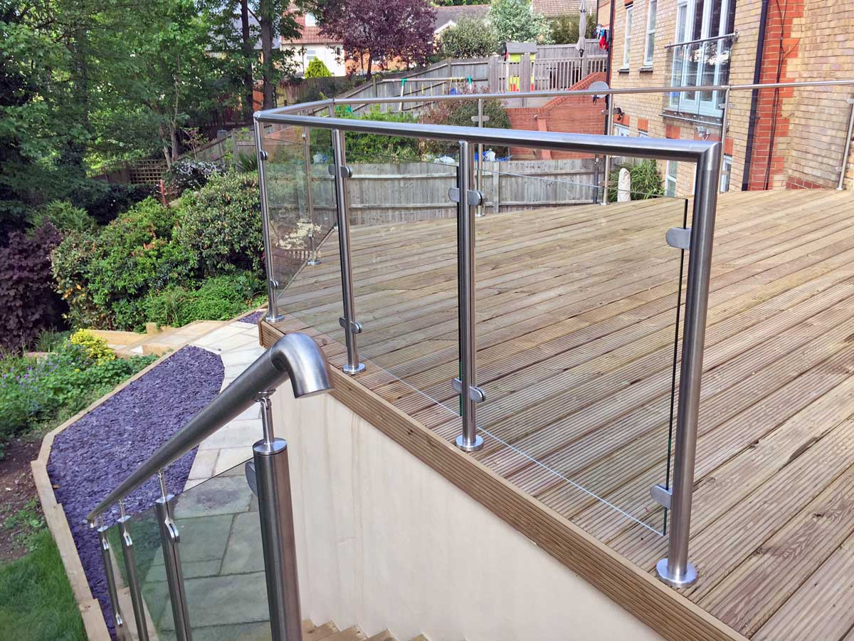 glass balustrades near me hertford